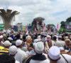 Ribuan Umat Islam Sumsel Padati Bundaran Air Mancur Palembang