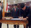 Gubernur dan Ketua DPRD Sumsel Resmi Tandatangan Bakal Pemekaran Kabupaten Gelumbang