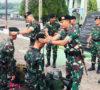 3 Perwira dan 7 Bintara Mandi Air Bunga dan Pemasangan Baret