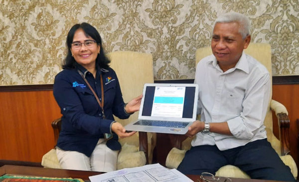BPS Lakukan Sensus Penduduk Online di Rumah Dinas Bupati