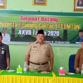 Wabup Buka Training Center Peserta MTQ Tingkat Nasional Asal Bengkulu Selatan