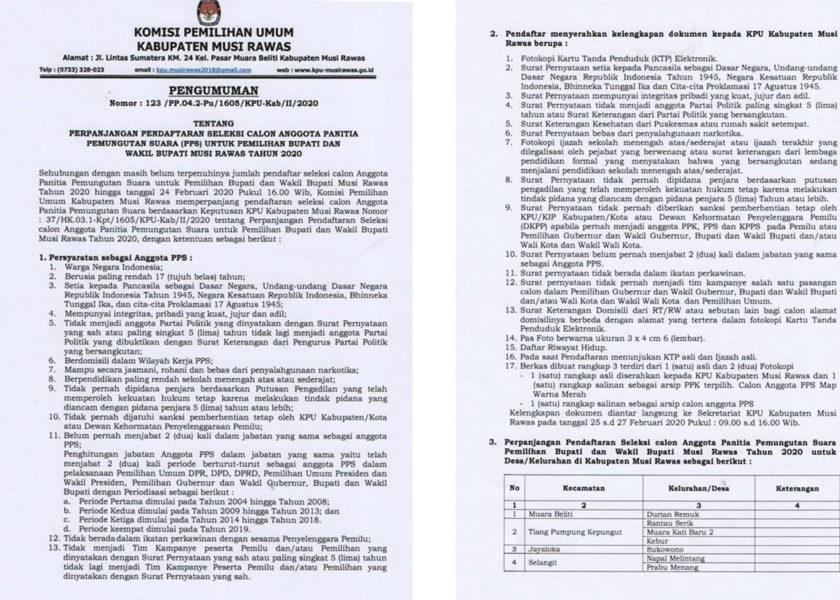 KPU Perpanjang Masa Pendaftaran PPS