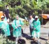 Kades Mela'o Lakukan Penyemprotan Disinfektan