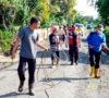 Gugus Tugas Covid-19 Kota Agung Lakukan Penyemprotan Disinfektan