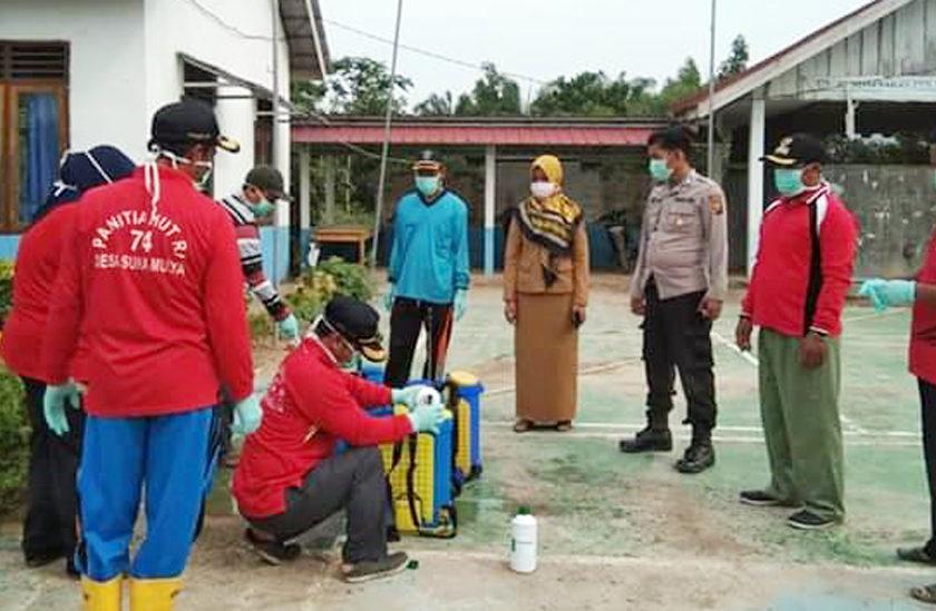 Antisipasi Virus Corona Masuk Desa, Kades dan Bidan Turun ke Jalan