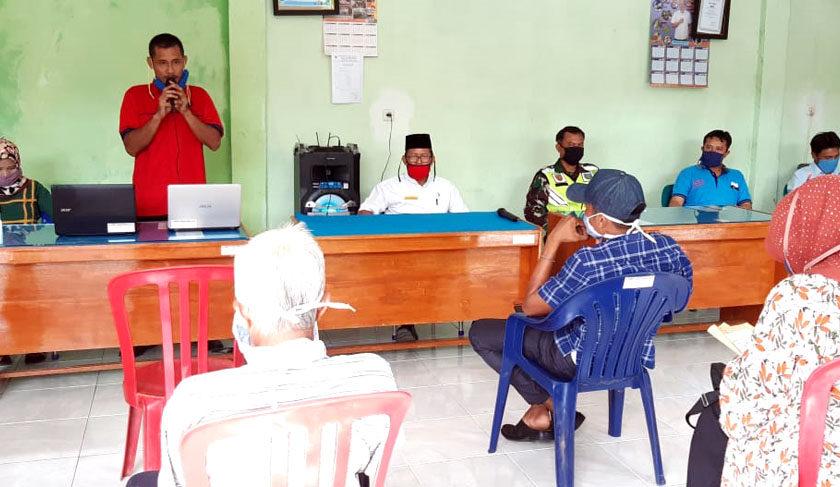 Pra Pelaksana Pembangunan Desa Talang Indah, Camat: Jangan Menyepelehkan Penyebaran Covid-19