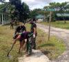 Pertahankan Ciri Khas Kavaleri, Anggota Yonkav-5 Karang Endah Bersih-bersih Pangkalan