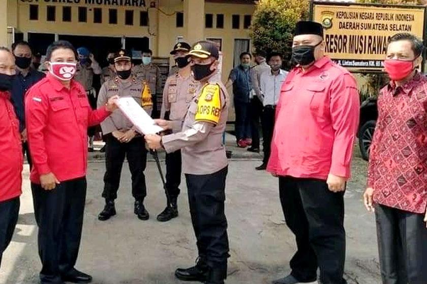 Bendera Dibakar Massa Aksi, PDIP Muratara Minta Kepolisian Usut Tuntas
