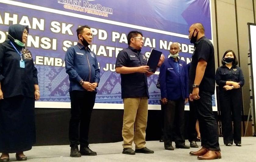 Yoppy Karim Resmi Jabat Ketua DPC Nasdem Lubuklinggau