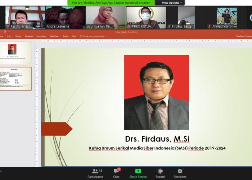 Ketua Umum SMSI Dinobatkan Sebagai Keynote Speaker