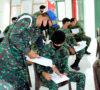 Prajurit Yonkav-5/DPC Ikuti Ujian Teori dan Praktik Pembuatan SIM