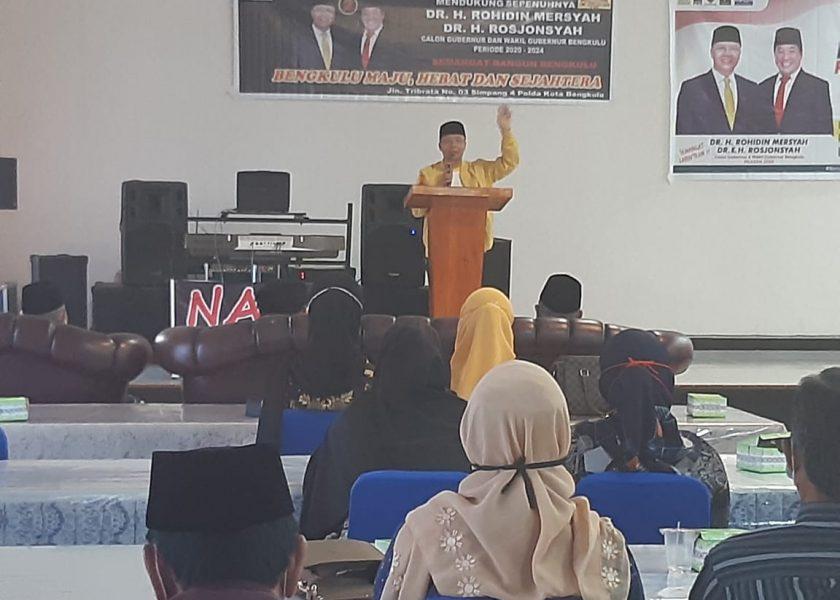 Rohidin Kampaye di Bengkulu Selatan