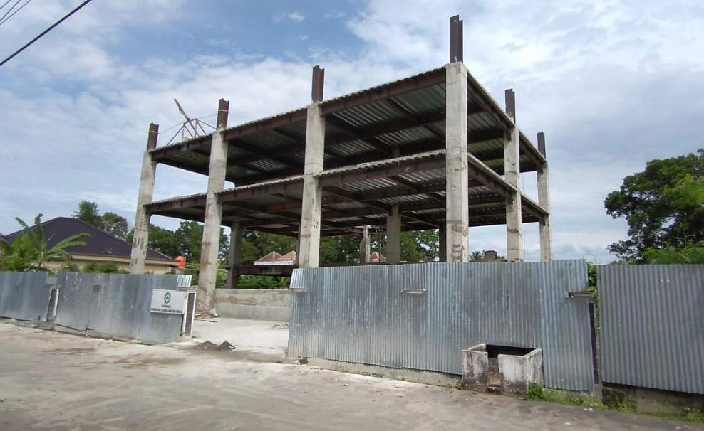 Pembangunan mess Pemkot Lubuk Linggau.