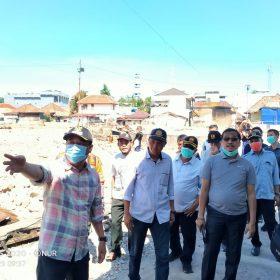Bupati Lahat Kunjungi Lahan Kebakaran Pasar Bawah, Targetkan Pembangunan 2021 Selesai