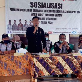 KPU Bengkulu Selatan Terus Sosialisasi Pemilihan Gubernur, Wakil Gubernur, Bupati, dan Wakil Bupati