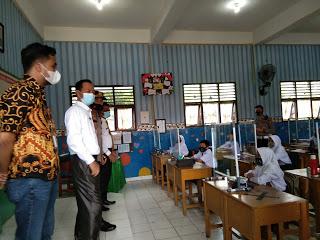 Sekda Cek Monitoring Protokol Kesehatan di Sekolah-Sekolah