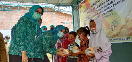 Masa Pandemi, 70 Anak Terima Bantuan Makanan Tambahan