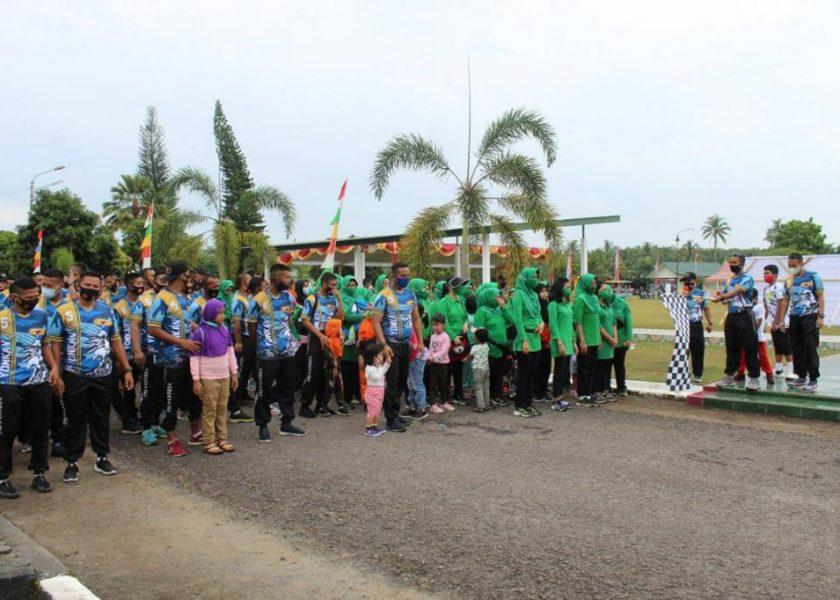 Tingkatkan Imunitas Tubuh, Batalyon Kavaleri 5/DPC Gelar Fun Walk